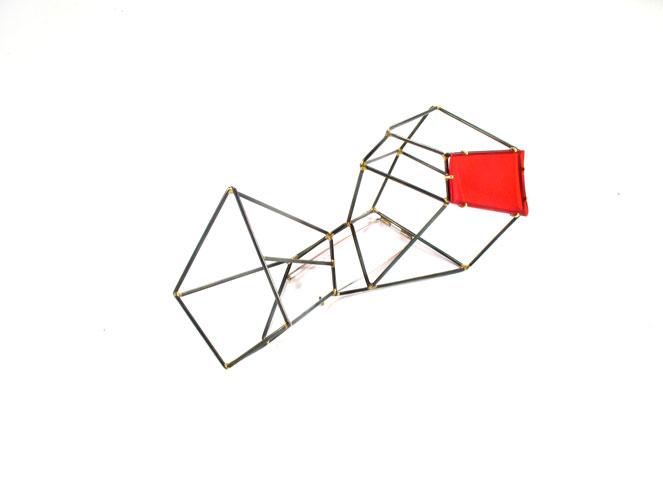 Red Fields Brooch #1