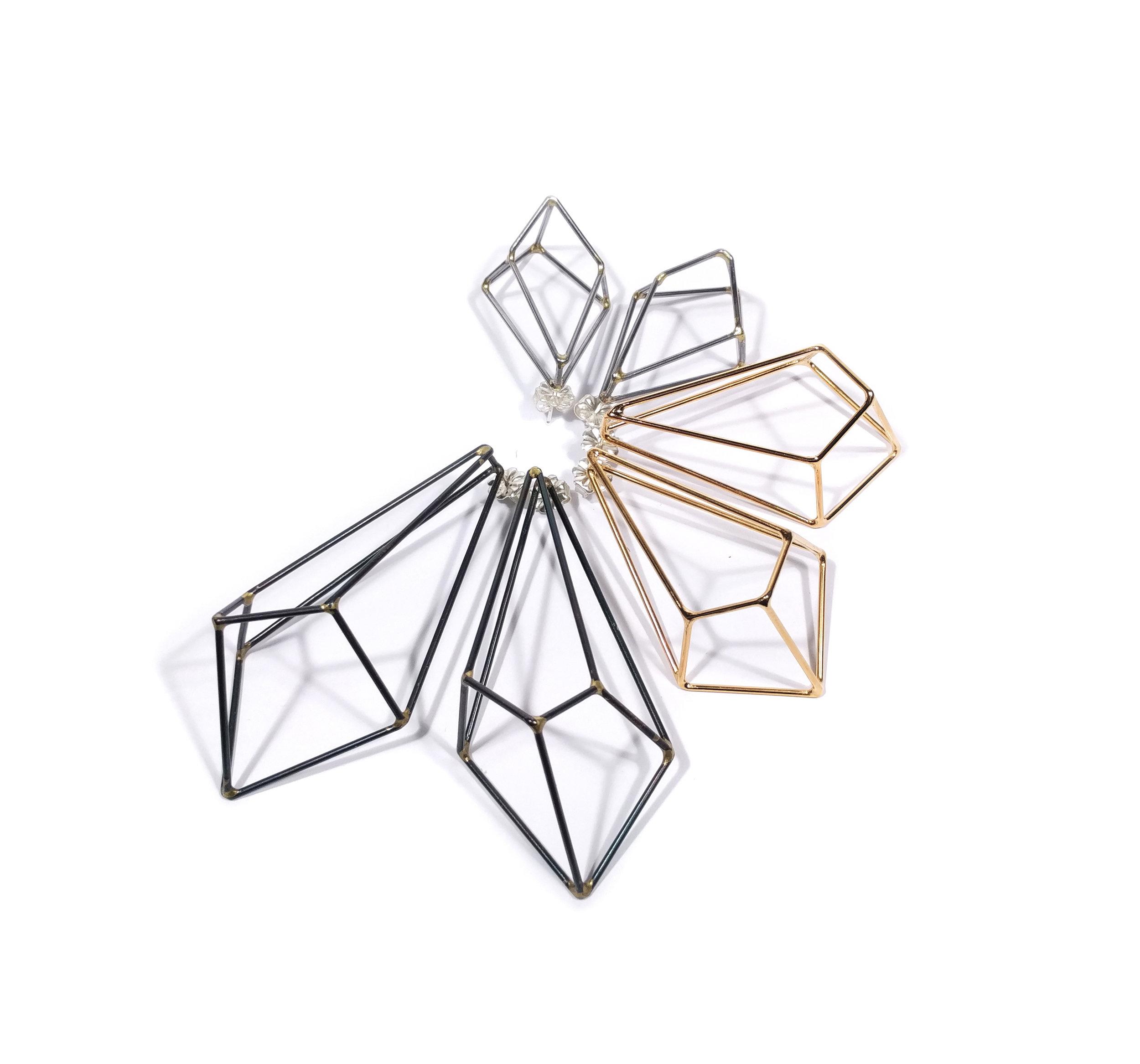 Crystalline Construction Earrings