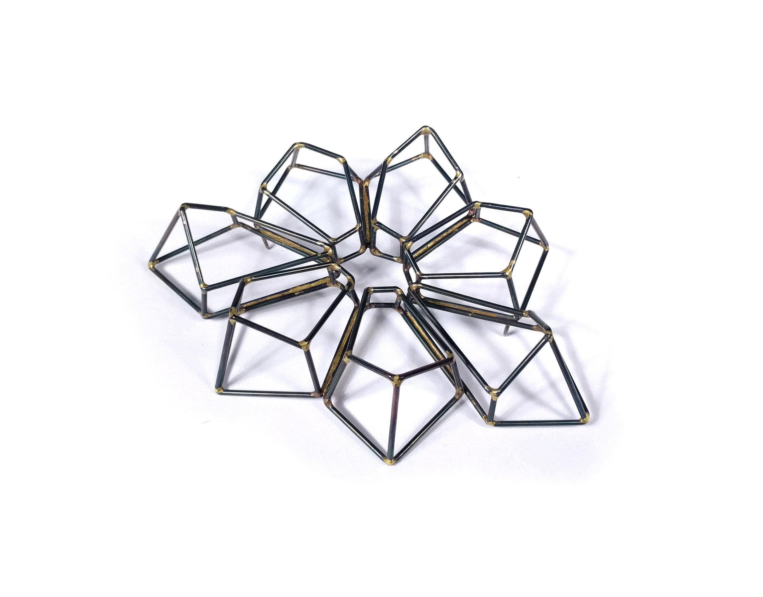 Crystalline Construction Brooch