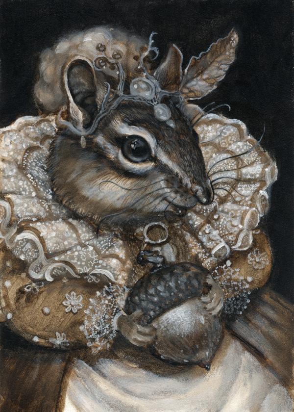 """The Duchess of Oak Nut"" underpainting"