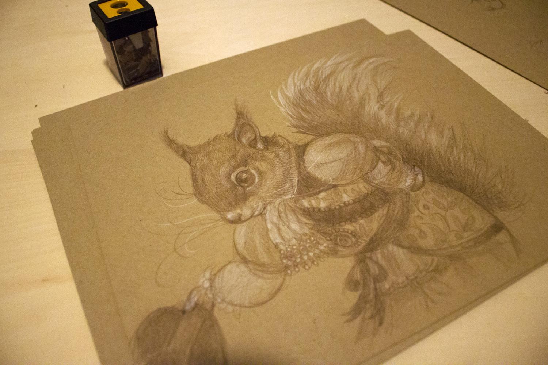 """""""The Duke of Oak Nut"""" sketch"""