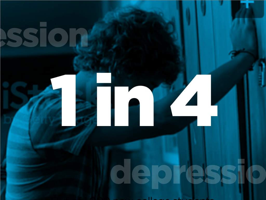 1 in 4 will suffer from depression. (iStock video background)