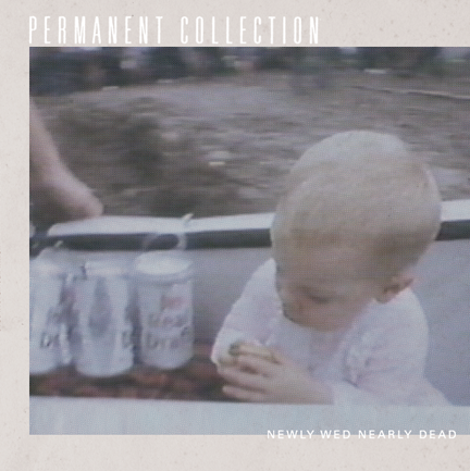 10 song LP by Permanent Collection, newly wed nearly dead on milky clear vinyl. loglady records