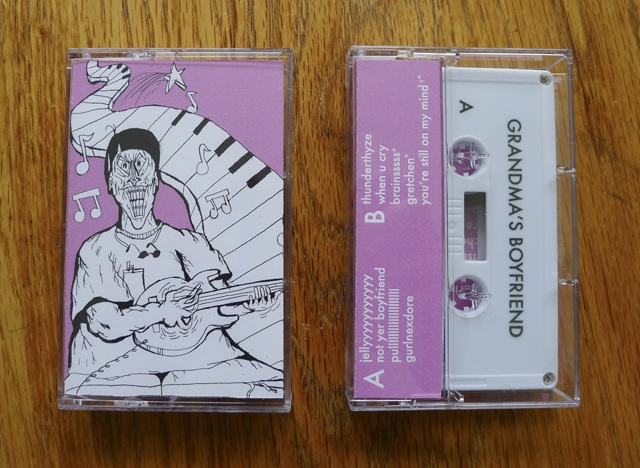 randma's Boyfriend's I Want Pizza cassette is a nine track home recorded homage to the ever enduring power-pop genre. Playing upon such acts as The Ramones, Exploding Hearts, and The Queers, guitarist and vocalist Mike Ramos constructs aggressive pop arrangements that are backed by a forceful and concise rhythm section.