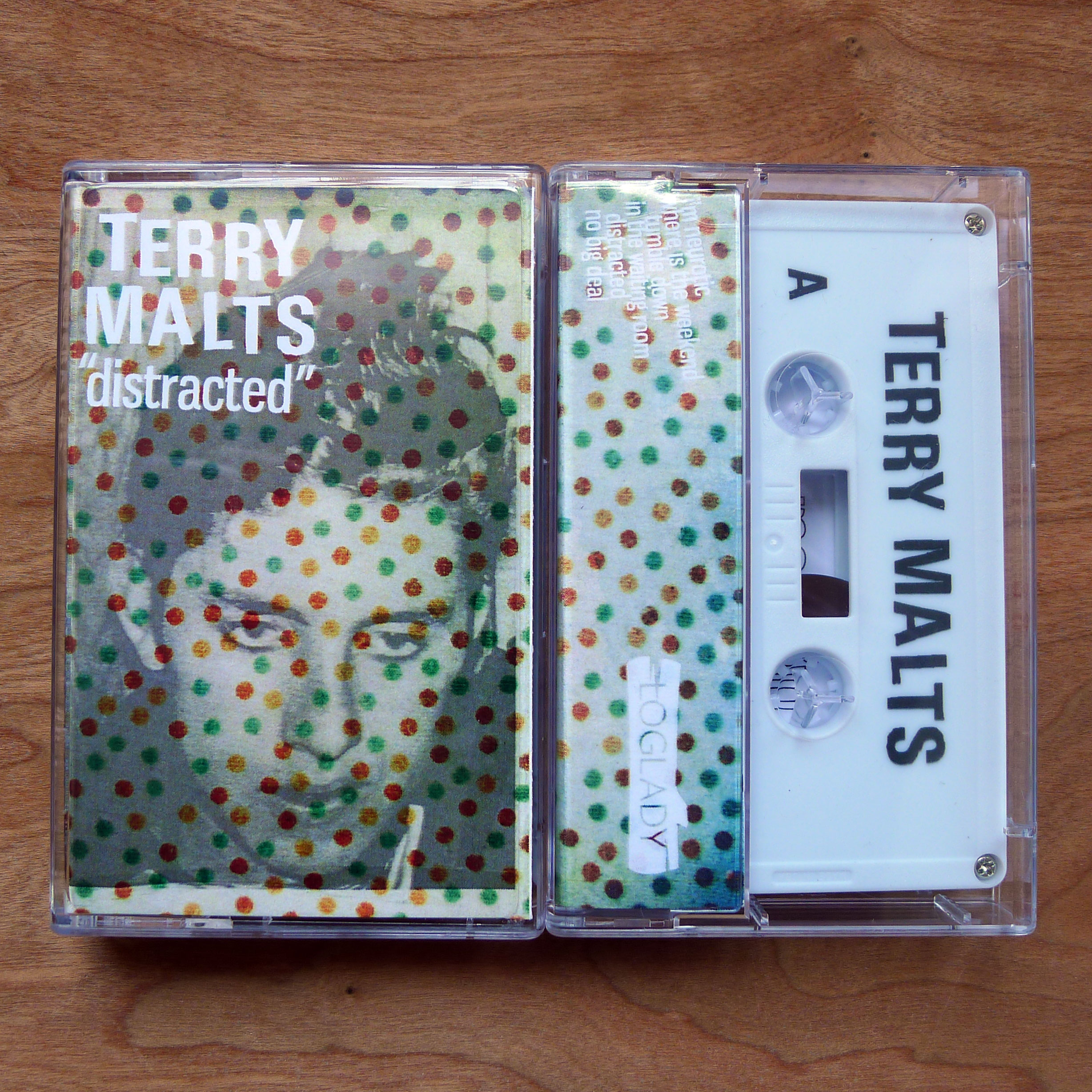 Distracted is Terry Malts six song cassette tape which has a double A side for nonstop listening. These post-punk, punk anthems will save you from jumping off a building while you're at work and get even the most clean cut of individuals induced in a beer frenzy.