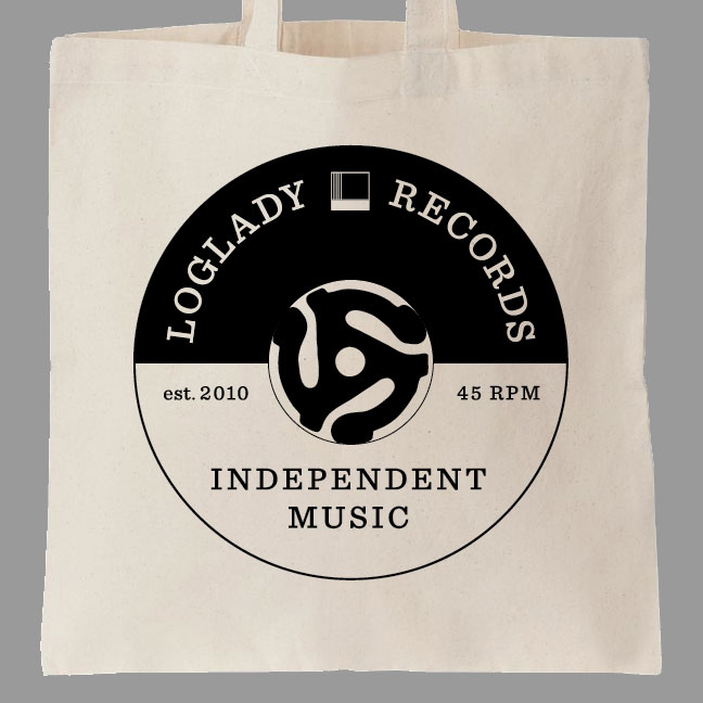 Limited edition tote bags double sided printed on black canvas.