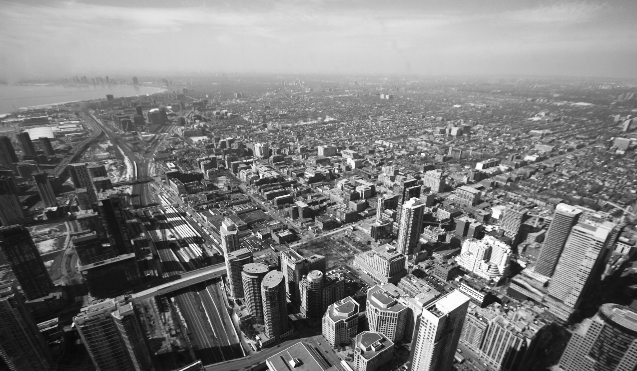 115 stories up \\ View of Toronto North/West