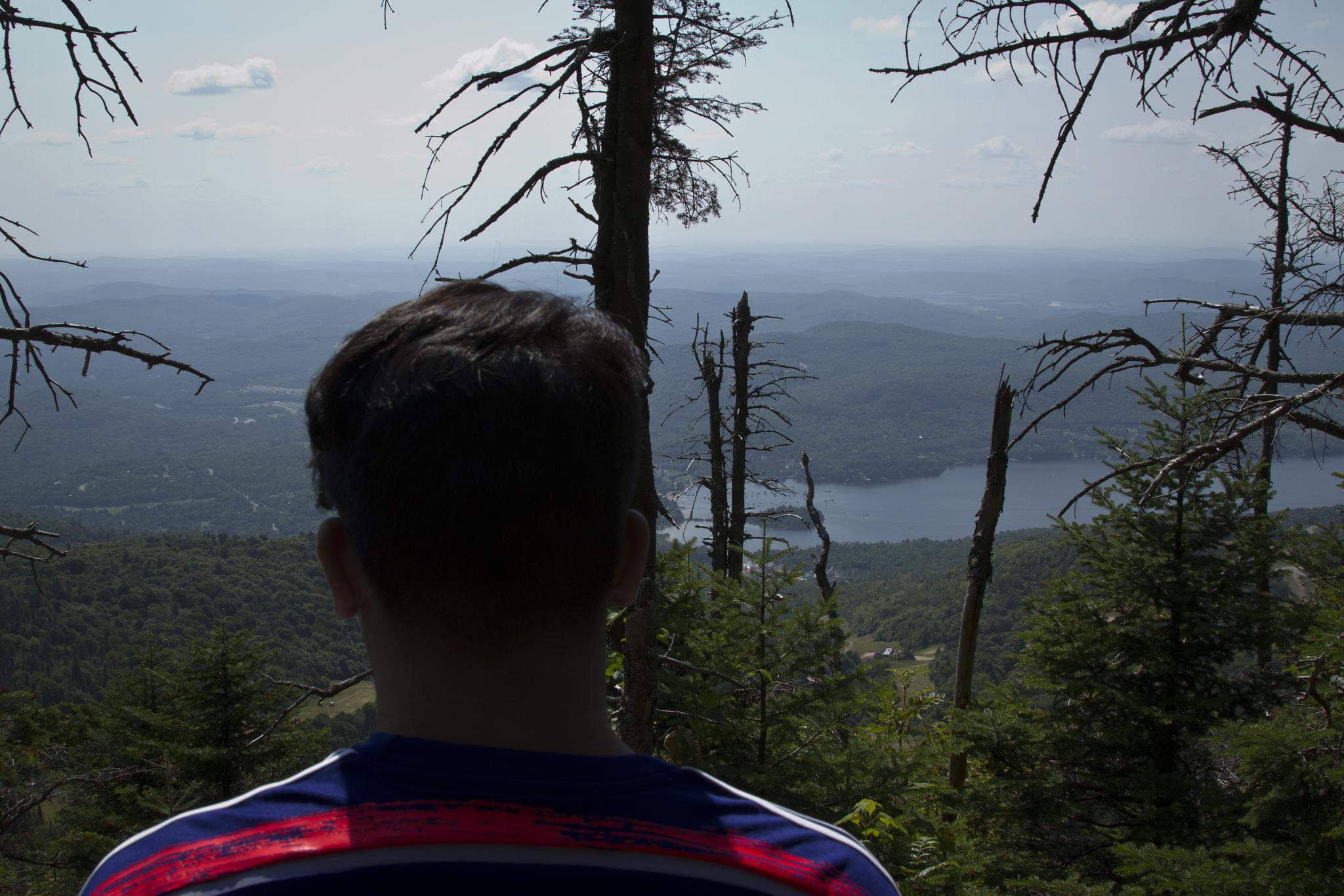 my son enjoying the view