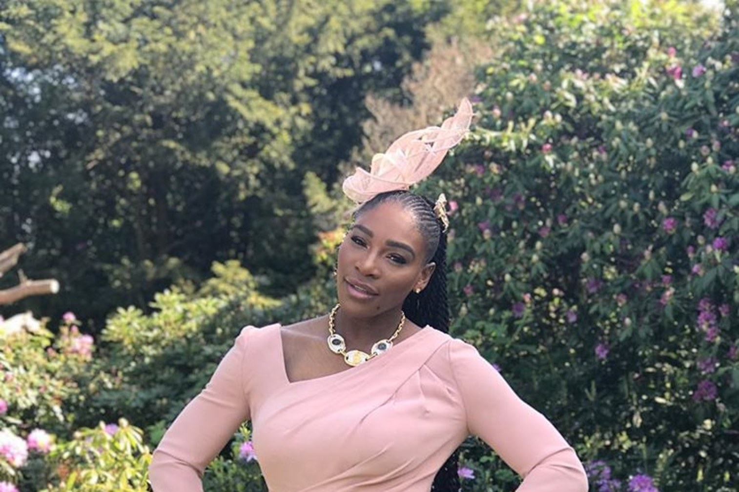 Serena Williams dressed for the royal wedding. Credit: Serena Williams IG