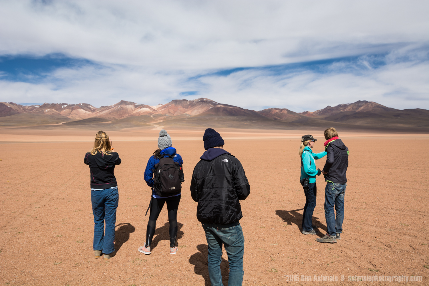 Tour Group In The Desert, Bolivian Highlands