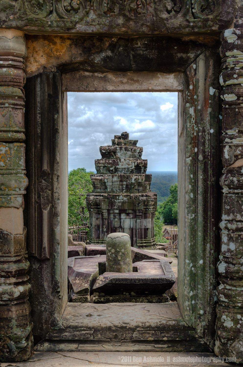 Ancient Doorway View, Angkor, Cambodia, Ben Ashmole