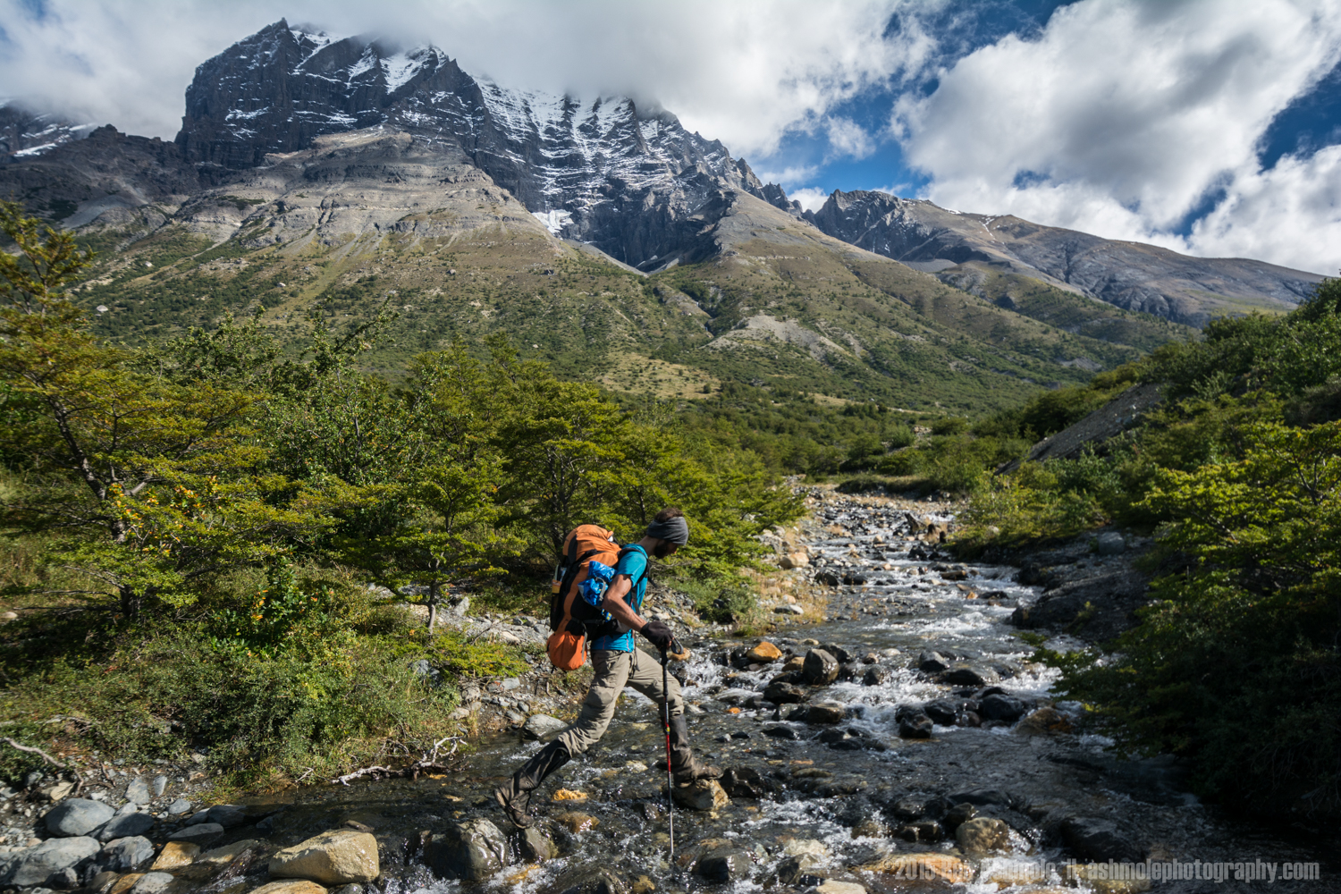 Crossing The River 2, Torres Del Paine, Patagonia, Chile