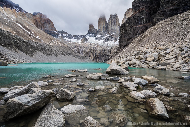 Glacial Lake, Las Torres, Torres Del Paine, Patagonia, Chile