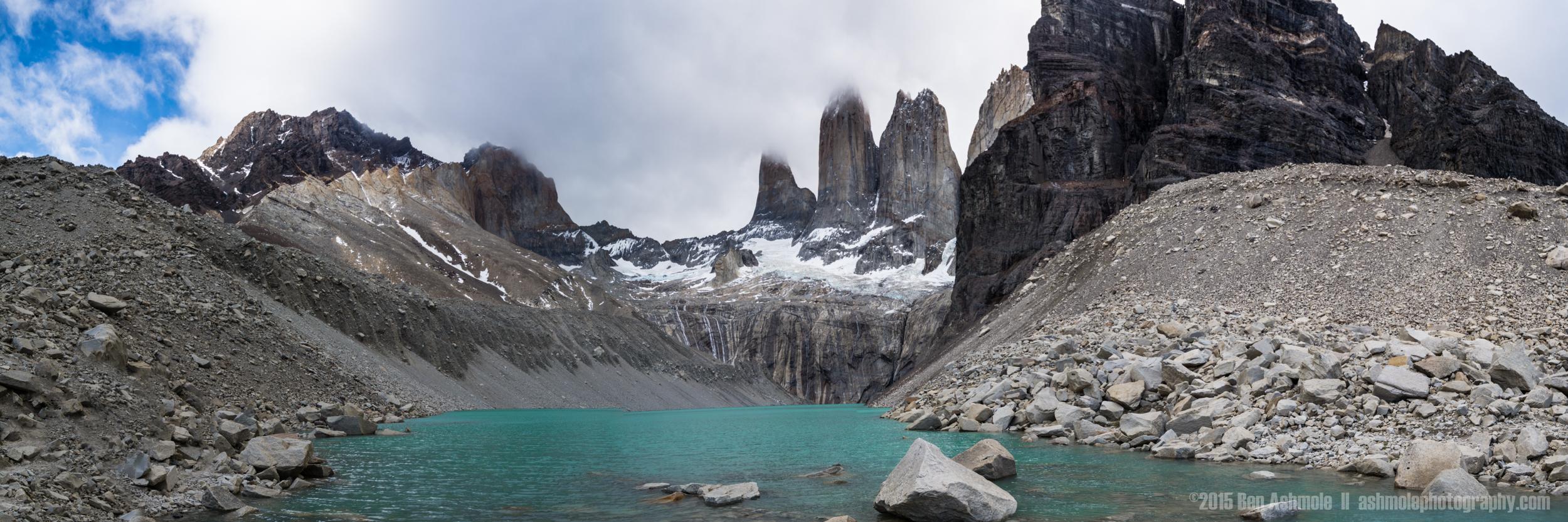 Las Torres Panorama, Torres Del Paine, Patagonia, Chile