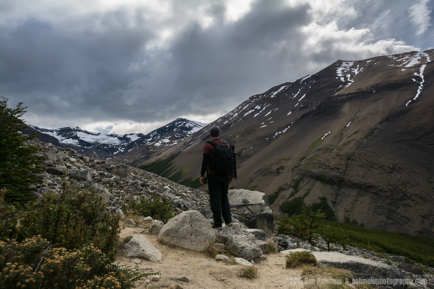 The Trail to Las Torres, Torres Del Paine, Patagonia, Chile