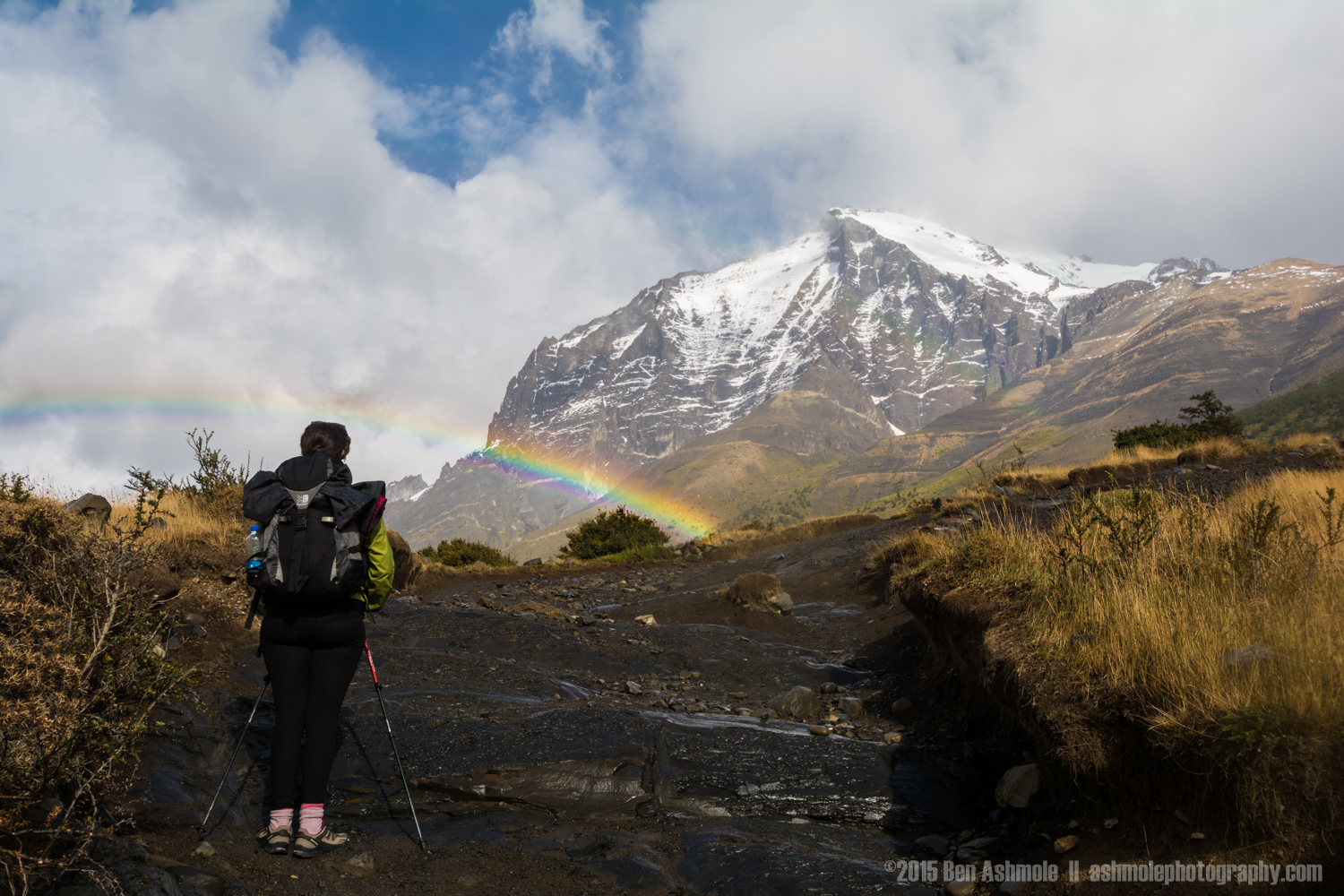 Hiking Rainbow 2, Torres Del Paine, Patagonia, Chile