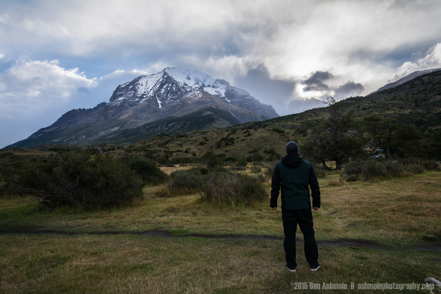 Looking Towards The 'W', Torres Del Paine, Patagonia, Chile