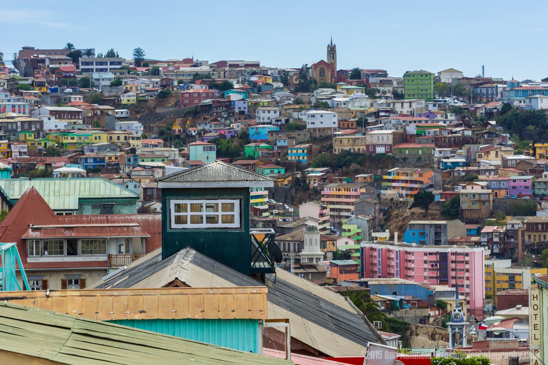 Colourful Buildings, Valparaiso, Chile