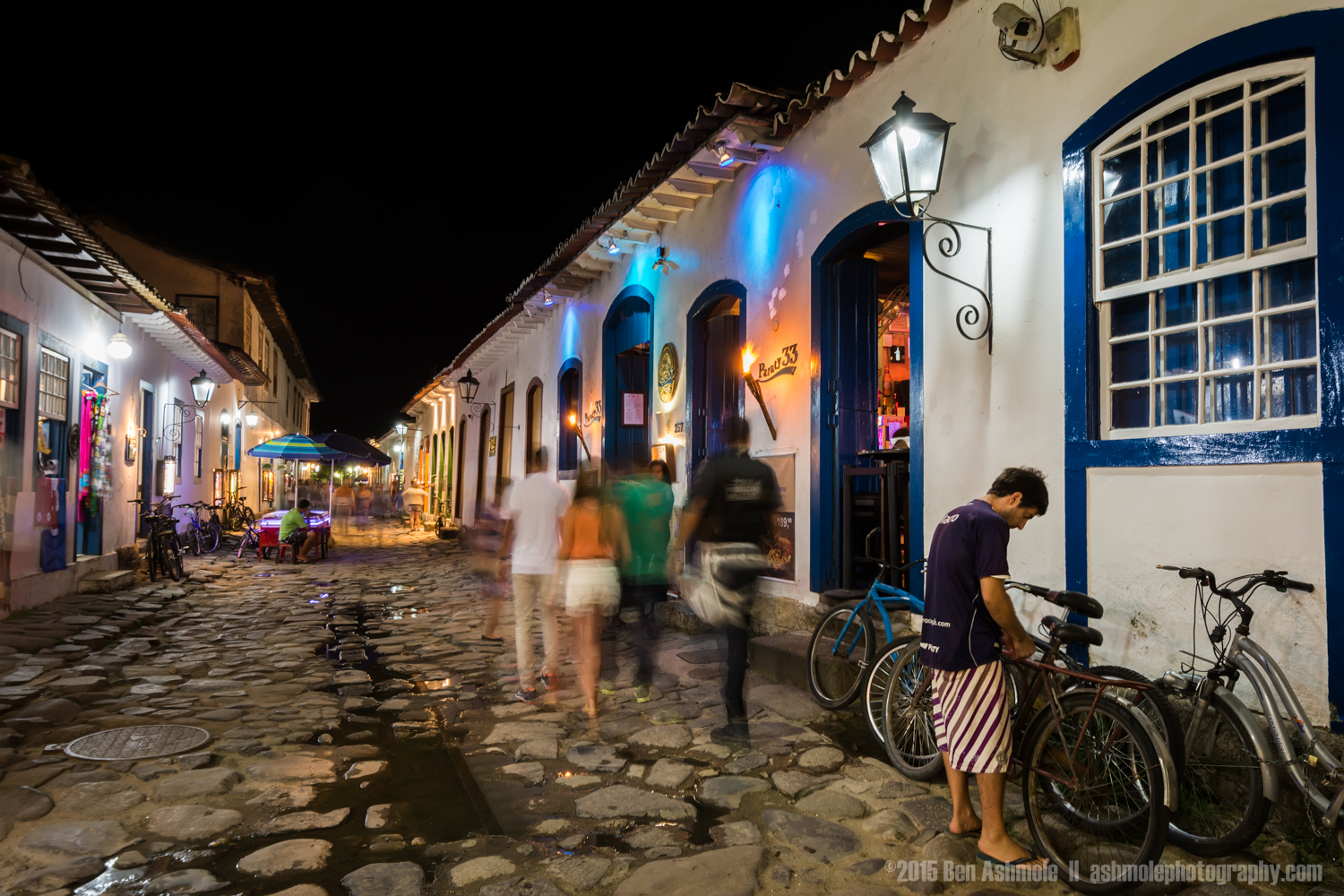 Old Town At Night, Paraty, Brazil