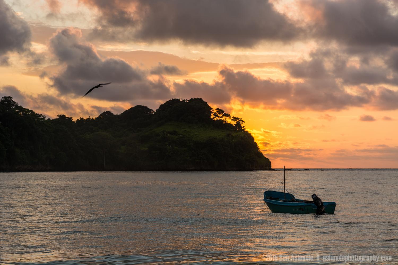 Boat In The Bay, Mompiche, Ecuador