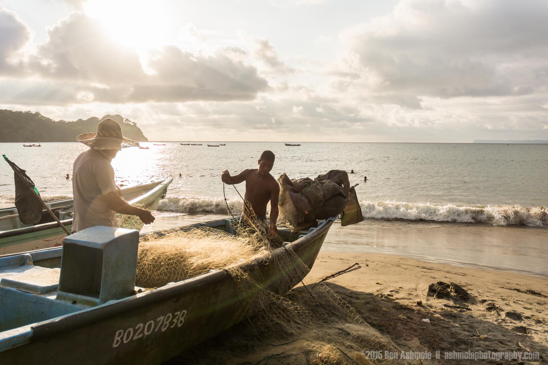 Fixing The Fishing Nets, Mompiche, Ecuador
