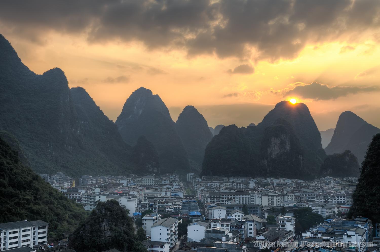 Karst Sunset, Yangshuo, China