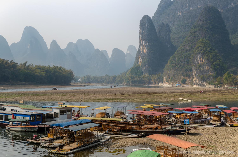 Xingping River Harbour, Guangxi Province, China