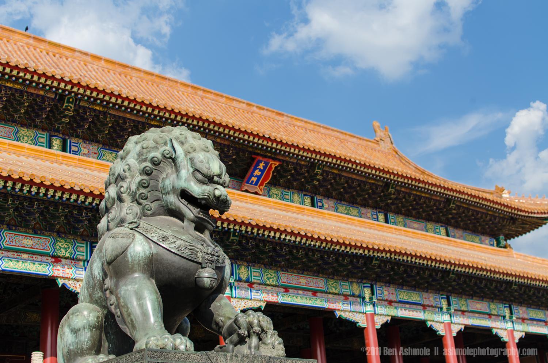 The Guardian Lion, Forbidden City, Beijing, China, Ben Ashmole