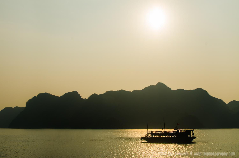 Warm Sillhouette, Ha Long Bay, Vietnam