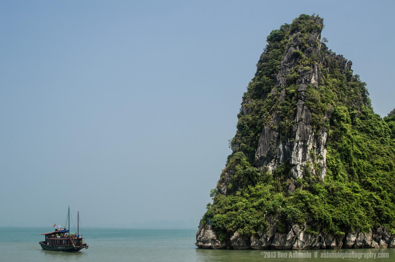 Sailing Around The Outcrop, Ha Long Bay, Vietnam