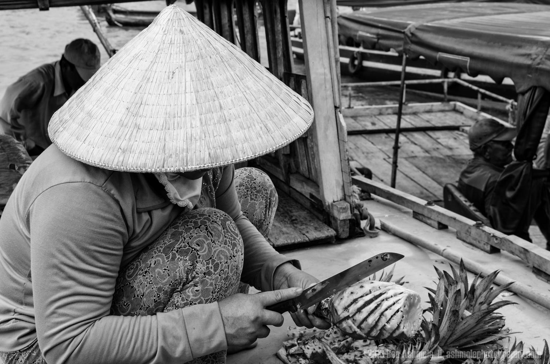 Carving Pineapple, Mekong Delta, Vietnam