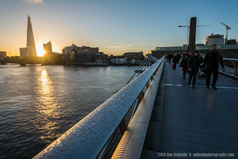 Millenium Bridge Sunrise, London, UK