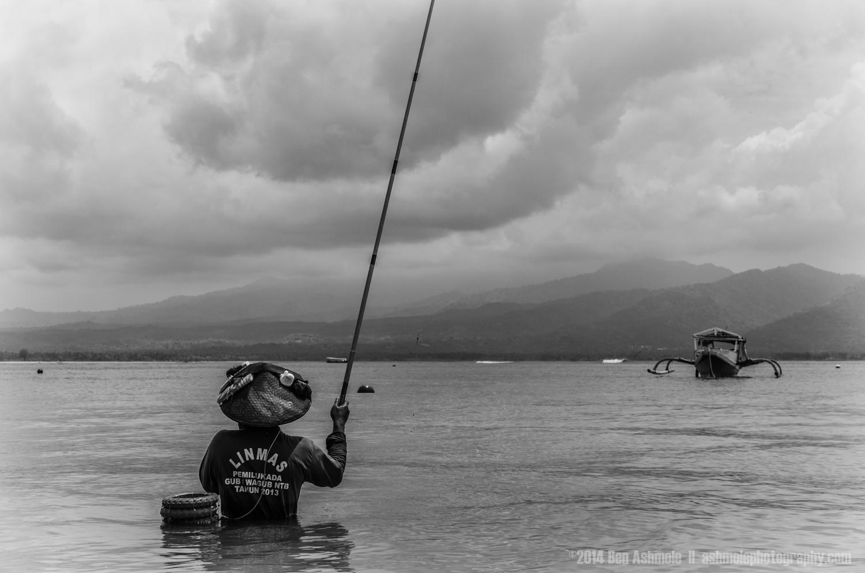 Bay Fisherman, Gili Air, Indonesia
