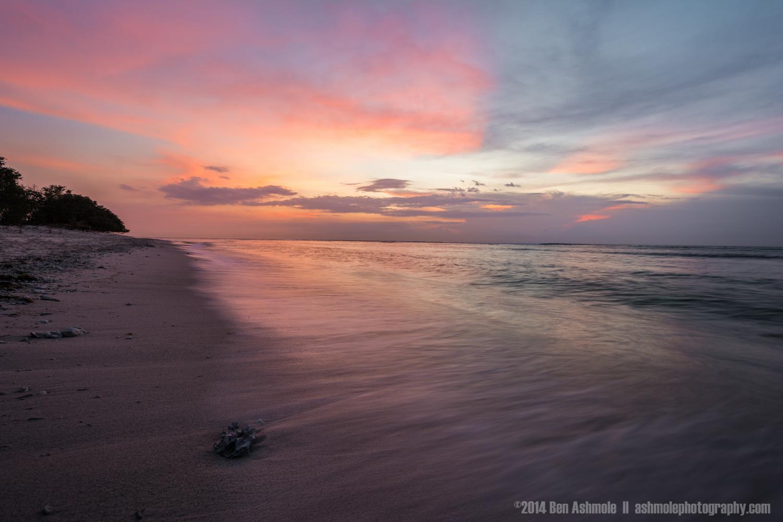 Pink Sunset, Gili Trawangan, Indonesia