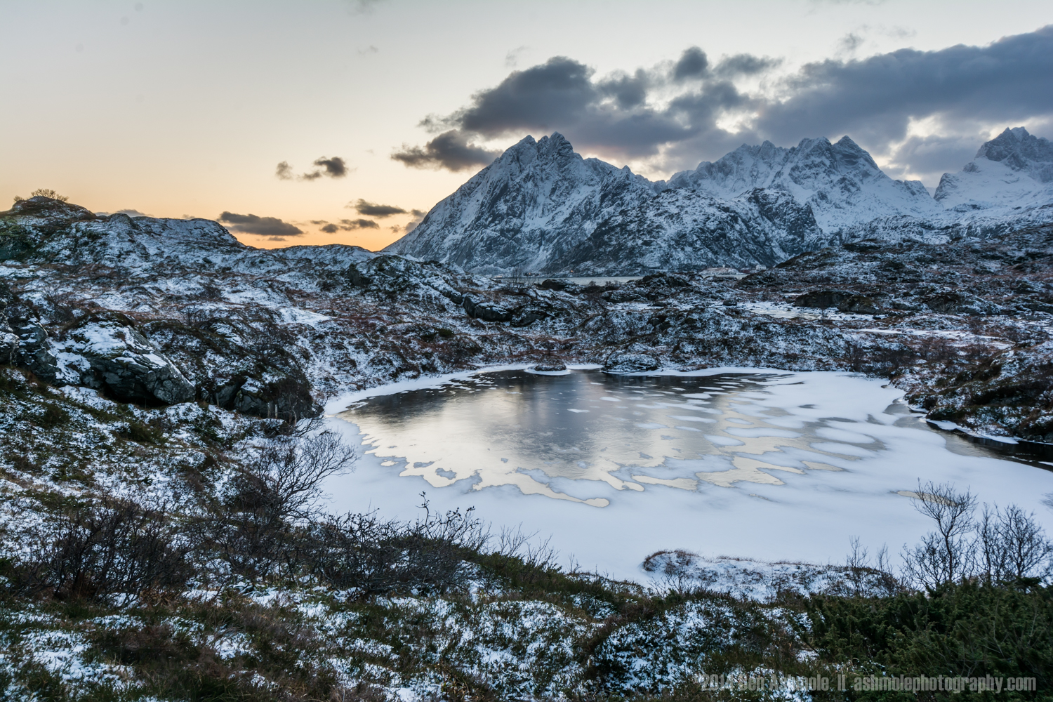 The Frozen Lake, Lofoten Islands, Norway