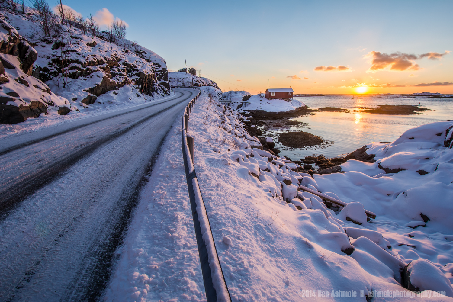 Arctic Road, Lofoten Islands, Norway