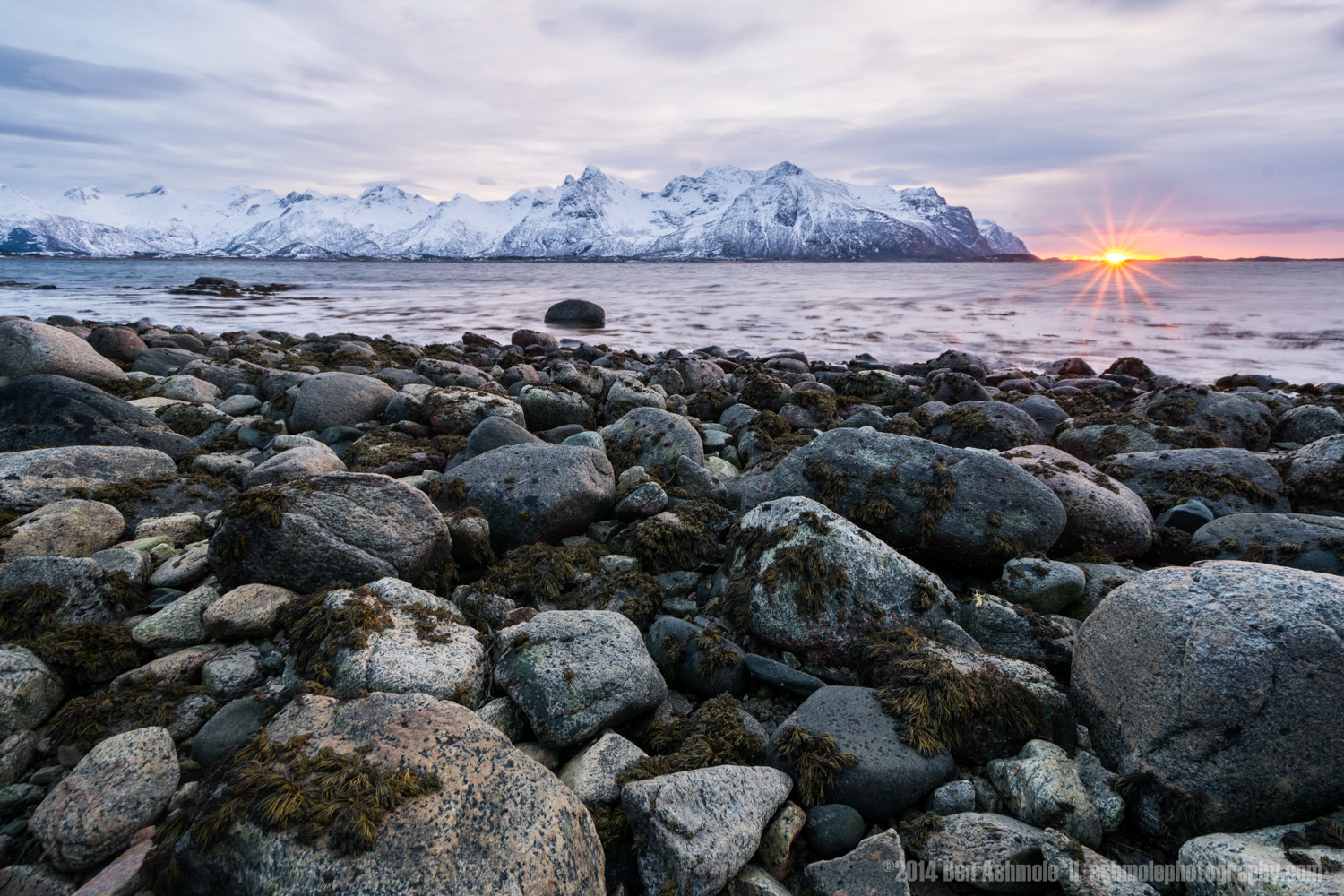 Arctic Sunstar, Lofoten Islands, Norway