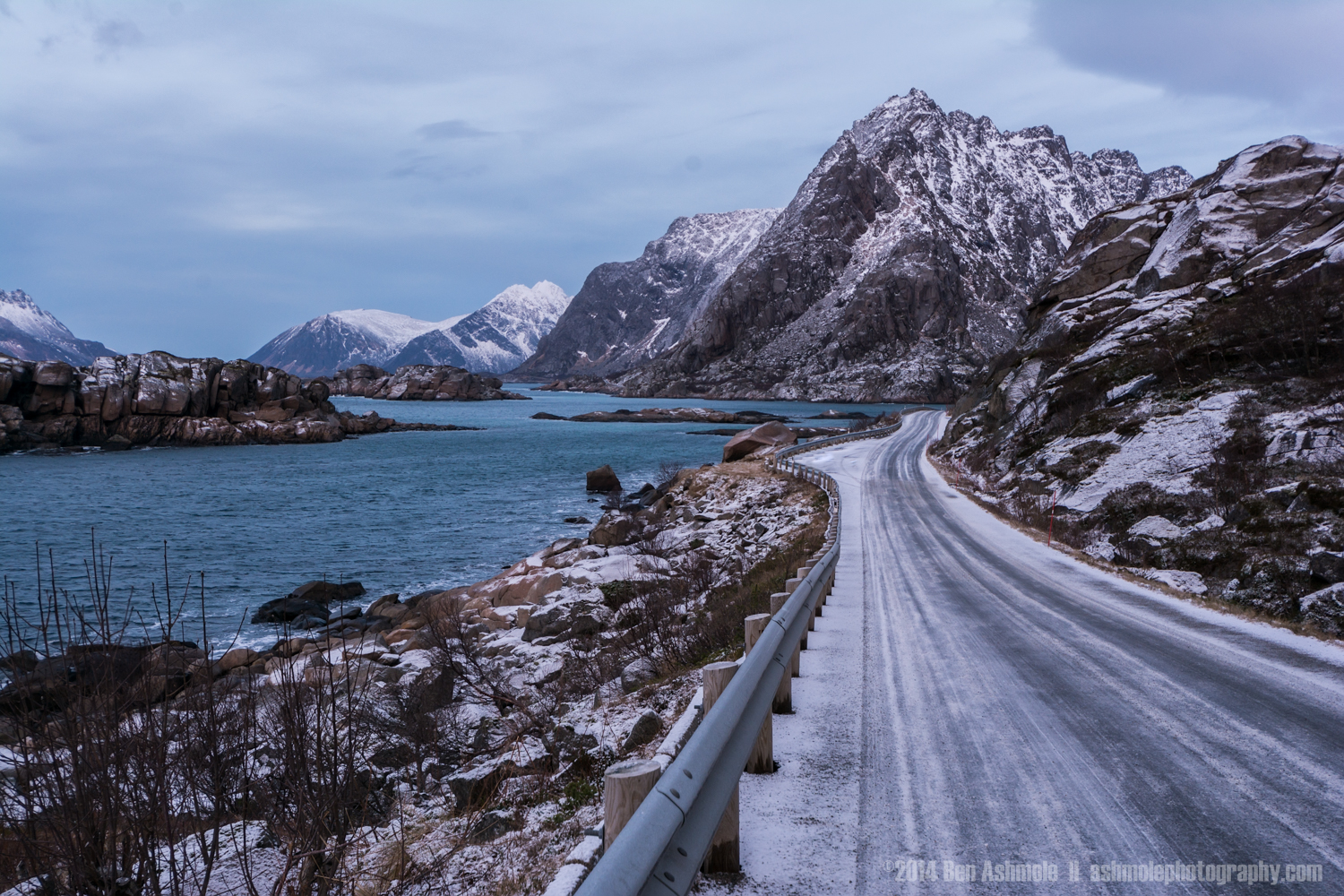 Road Through The Fjords, Lofoten Islands, Norway