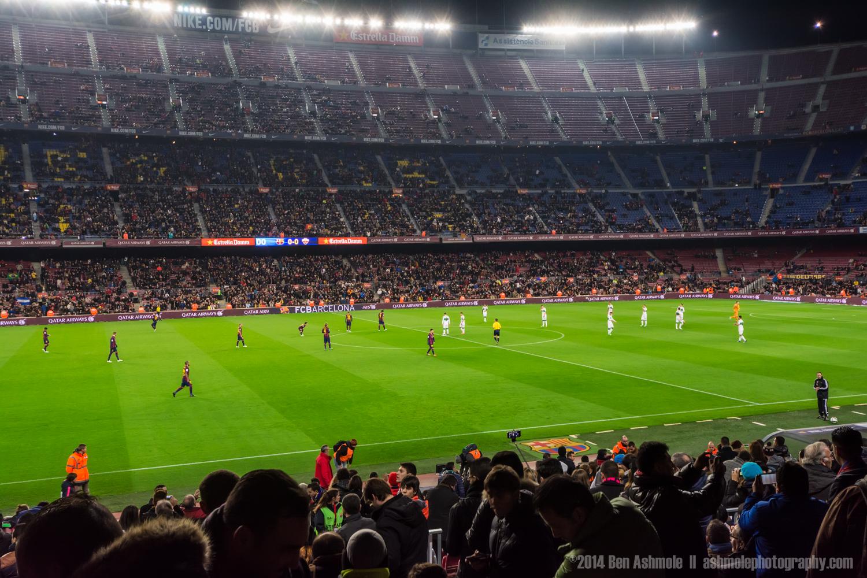 Barcelona FC Football Match, Camp Nou, Barcelona, Spain