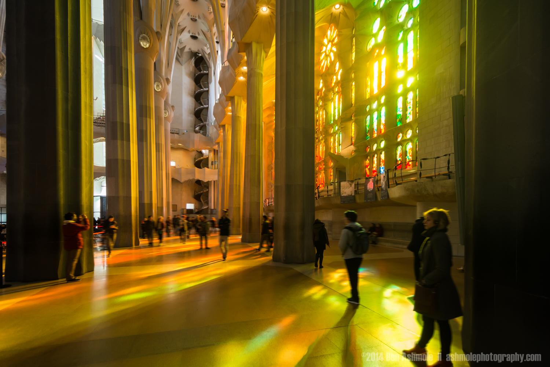Stained Glass Windows Of The Sagrada Familia 2, Barcelona, Spain