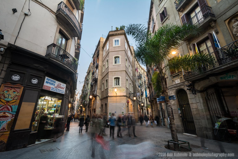 Busy Lane Ways, Barcelona, Spain