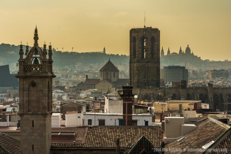 Across The Rooftops, Barcelona, Spain