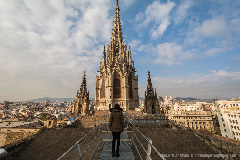 Roof Of La Seu, Barcelona, Spain
