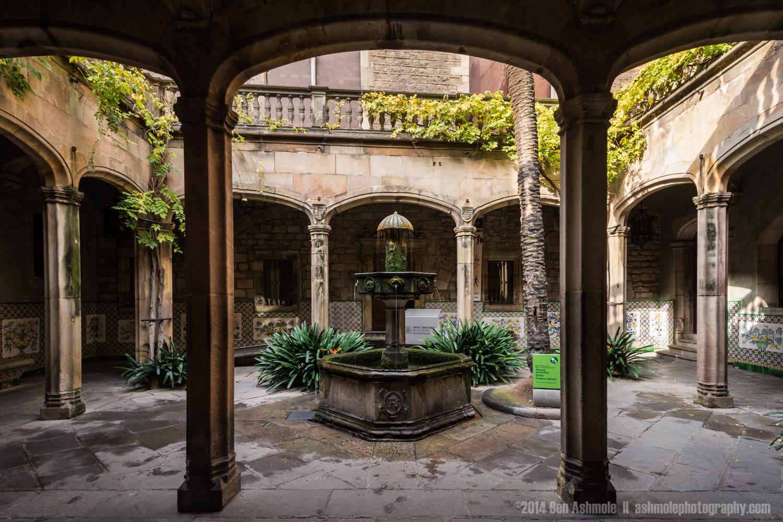 Catalan Courtyard, Barcelona, Spain