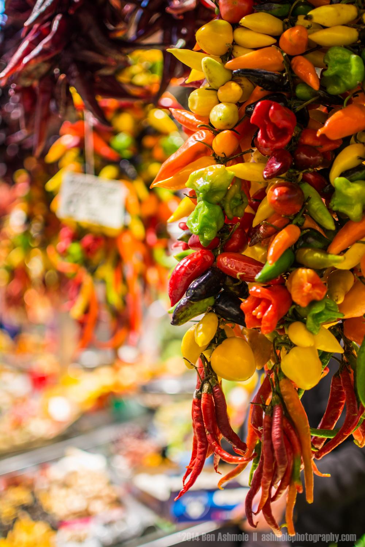Hanging Chilli Peppers 3, La Boqueria, Barcelona, Spain