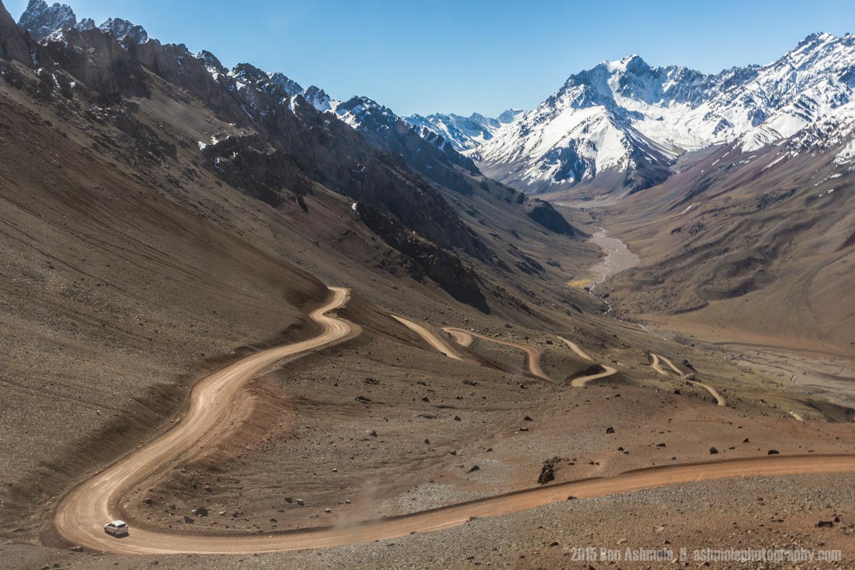 Road Through The Andes, Mendoza, Argentina