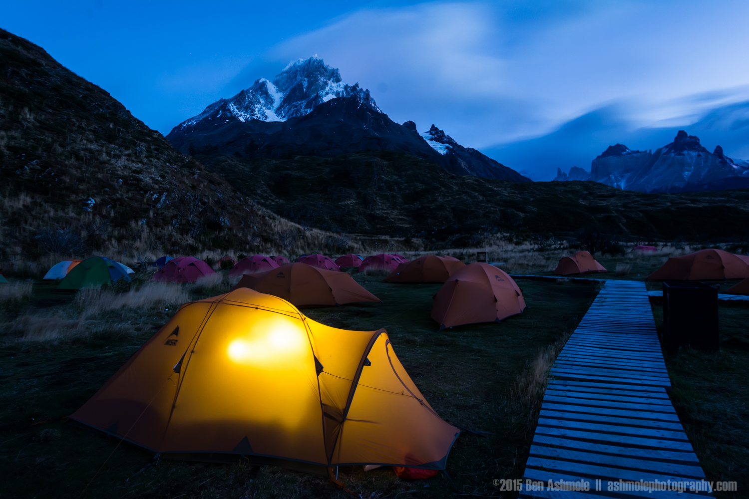 Early Morning Campsite, Torres Del Paine, Patagonia, Chile