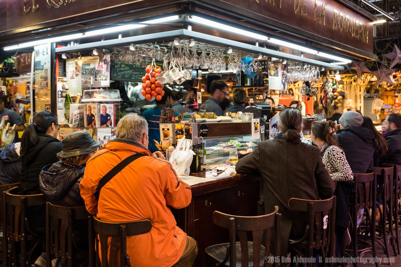 Tapas Bar, La Boqueria, Barcelona, Spain