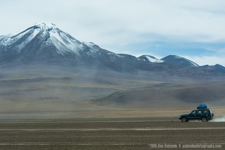 4x4 Crossing Desert, Bolivian Highlands