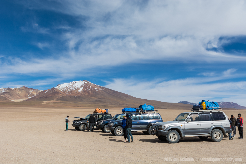4x4's In The Desert, Bolivian Highlands